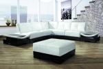 Луксозен диван в бяло и черно по поръчка