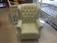 Кресло естествена кожа